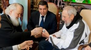 Fidel Castro y Su Santidad Kirill, Patriarca de Moscú y de Toda Rusia